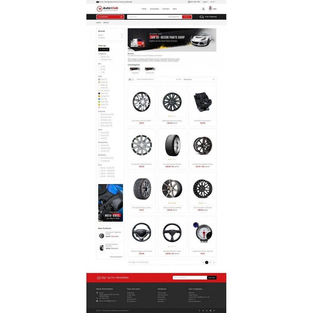 theme - Carros & Motos - Mega Auto Parts - 3
