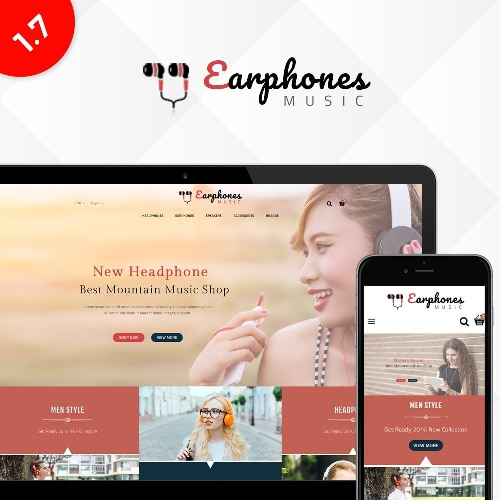 theme - Электроника и компьютеры - Earphones Store - 1
