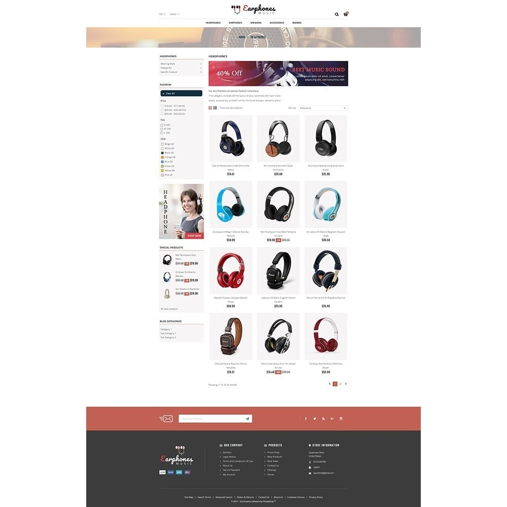 theme - Электроника и компьютеры - Earphones Store - 3