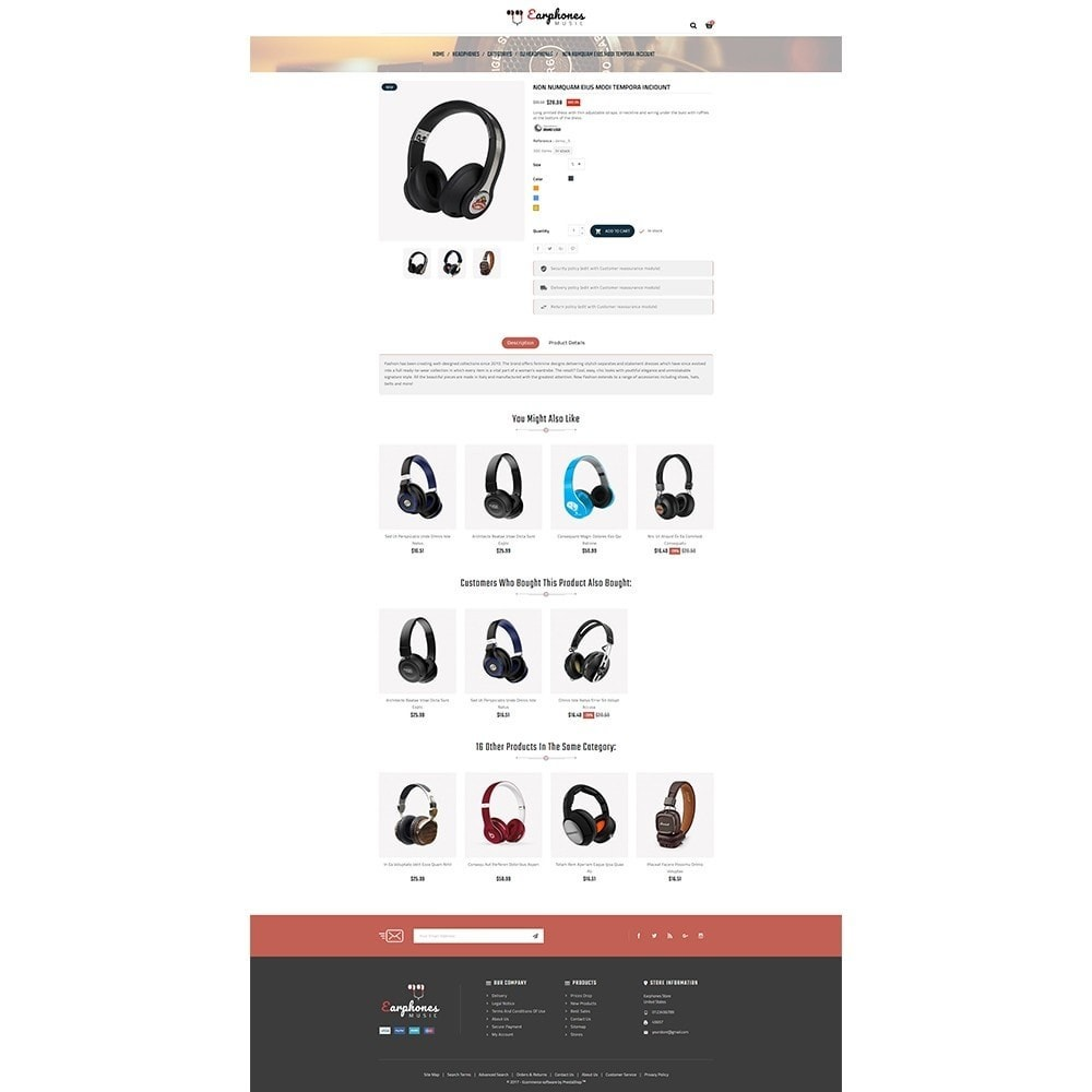 theme - Электроника и компьютеры - Earphones Store - 5