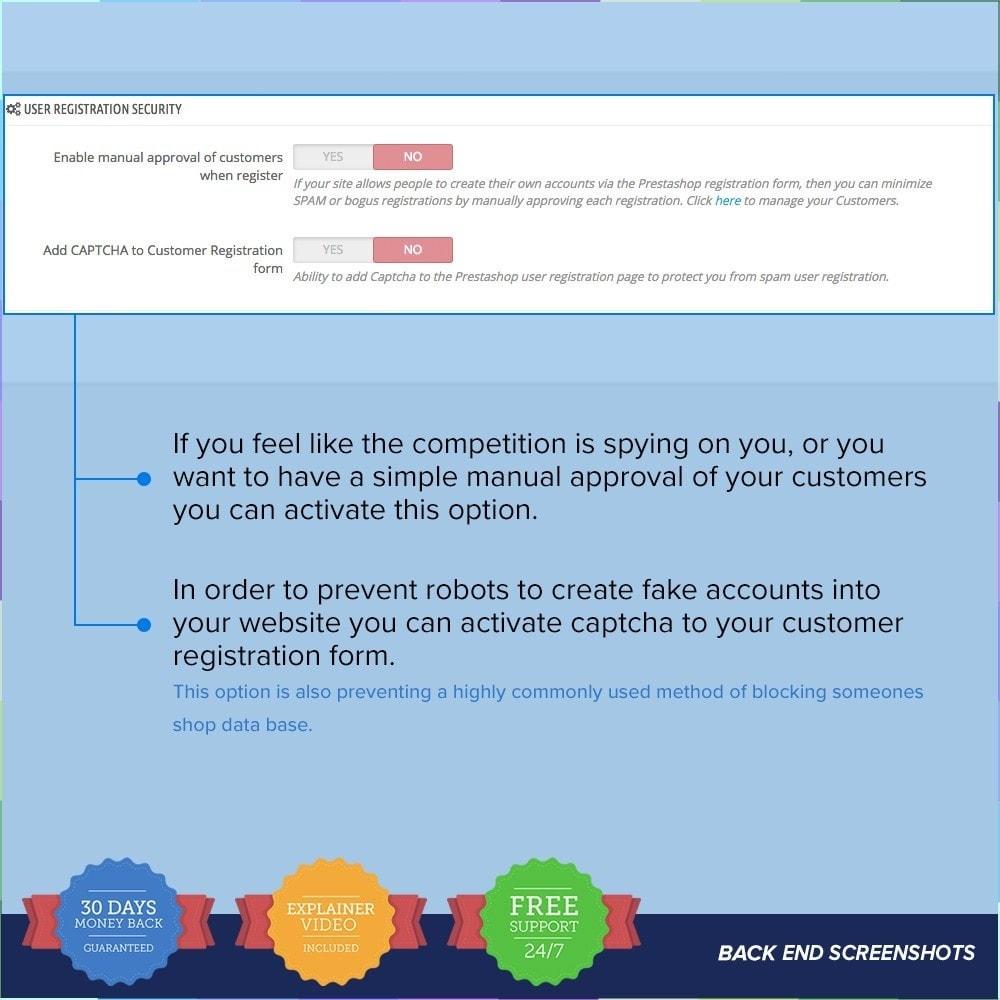 module - Veiligheid & Toegang - Protect Shop PRO / Anti Hack - 9