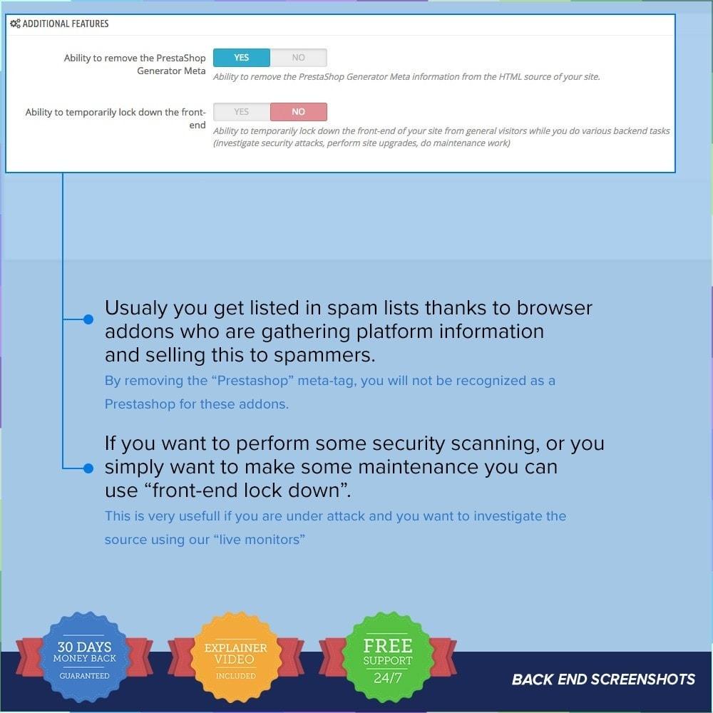 module - Veiligheid & Toegang - Protect Shop PRO / Anti Hack - 24