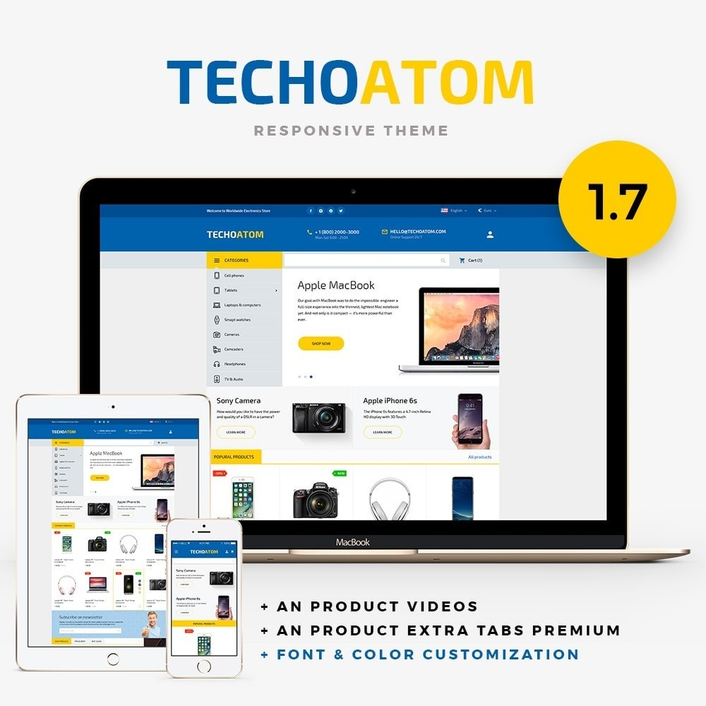 theme - Eletrônicos & High Tech - Technoatom  - High-tech Shop - 1