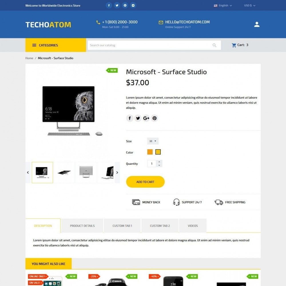 theme - Eletrônicos & High Tech - Technoatom  - High-tech Shop - 7