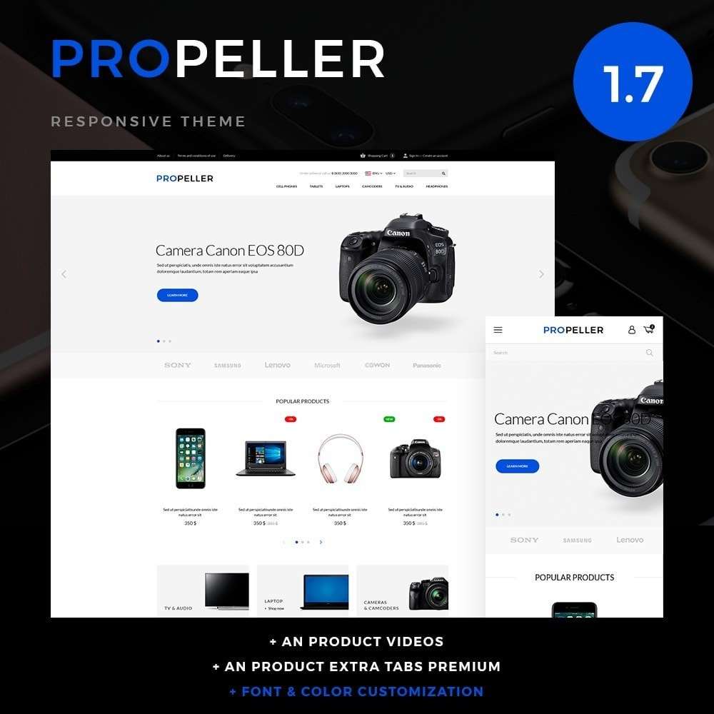 theme - Электроника и компьютеры - Propeller - High-tech Shop - 1