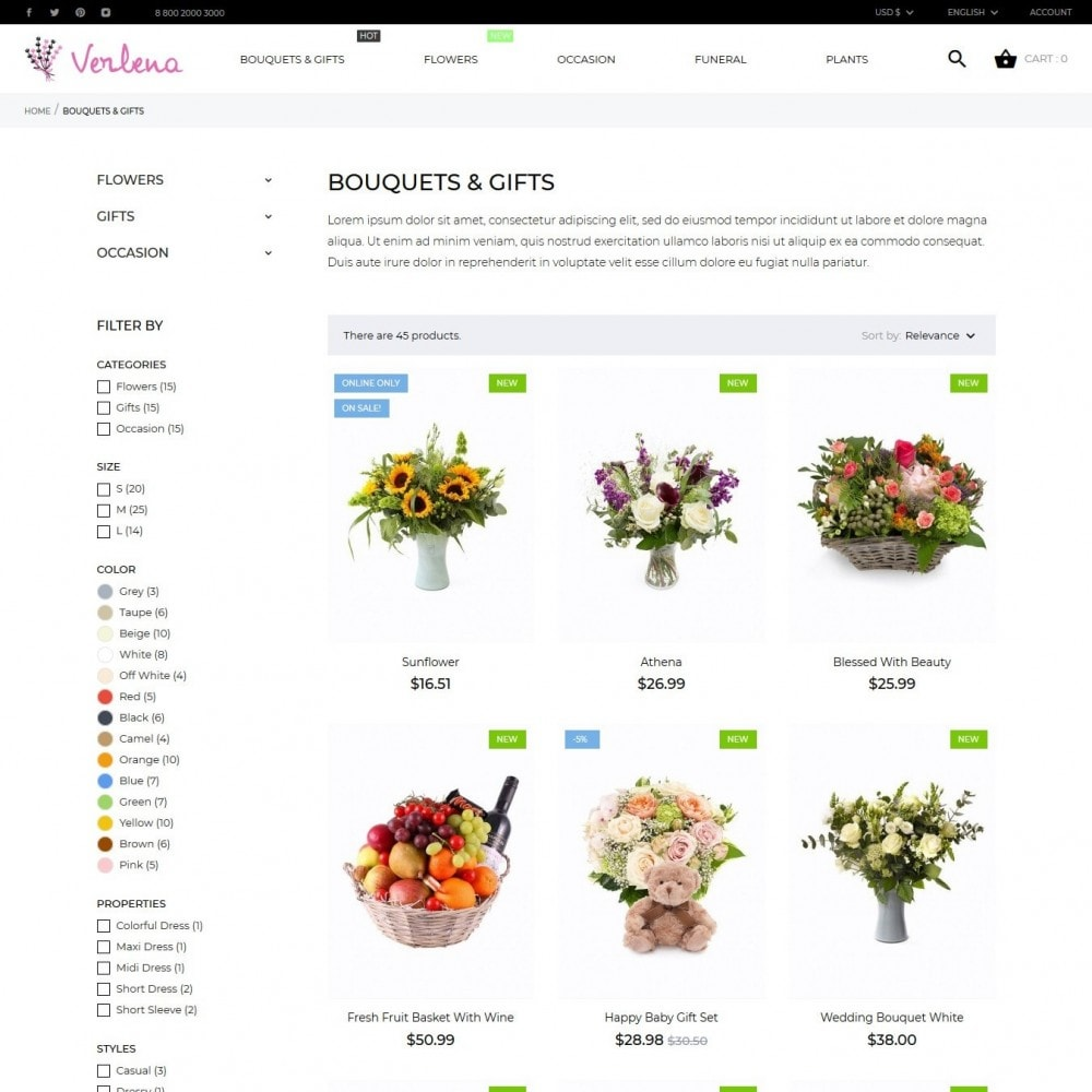 theme - Gifts, Flowers & Celebrations - Verlena - 6