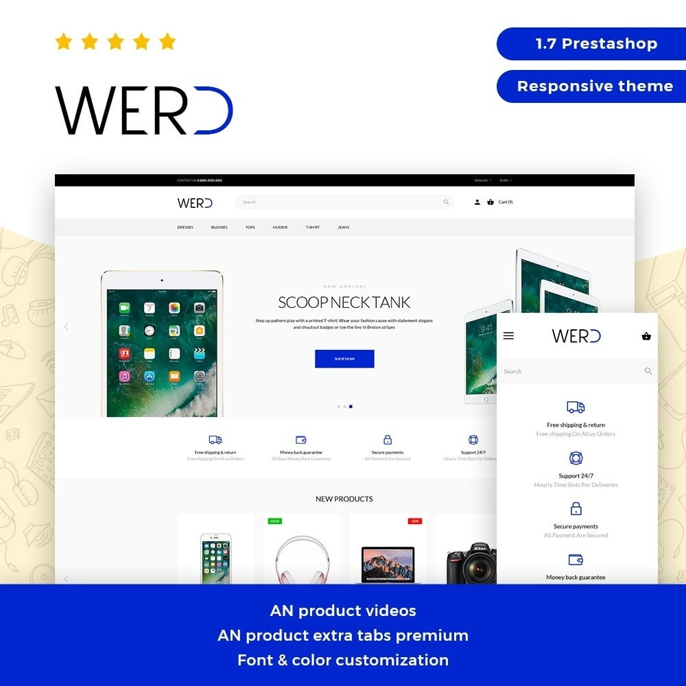 theme - Eletrônicos & High Tech - Werd - High-tech Shop - 1