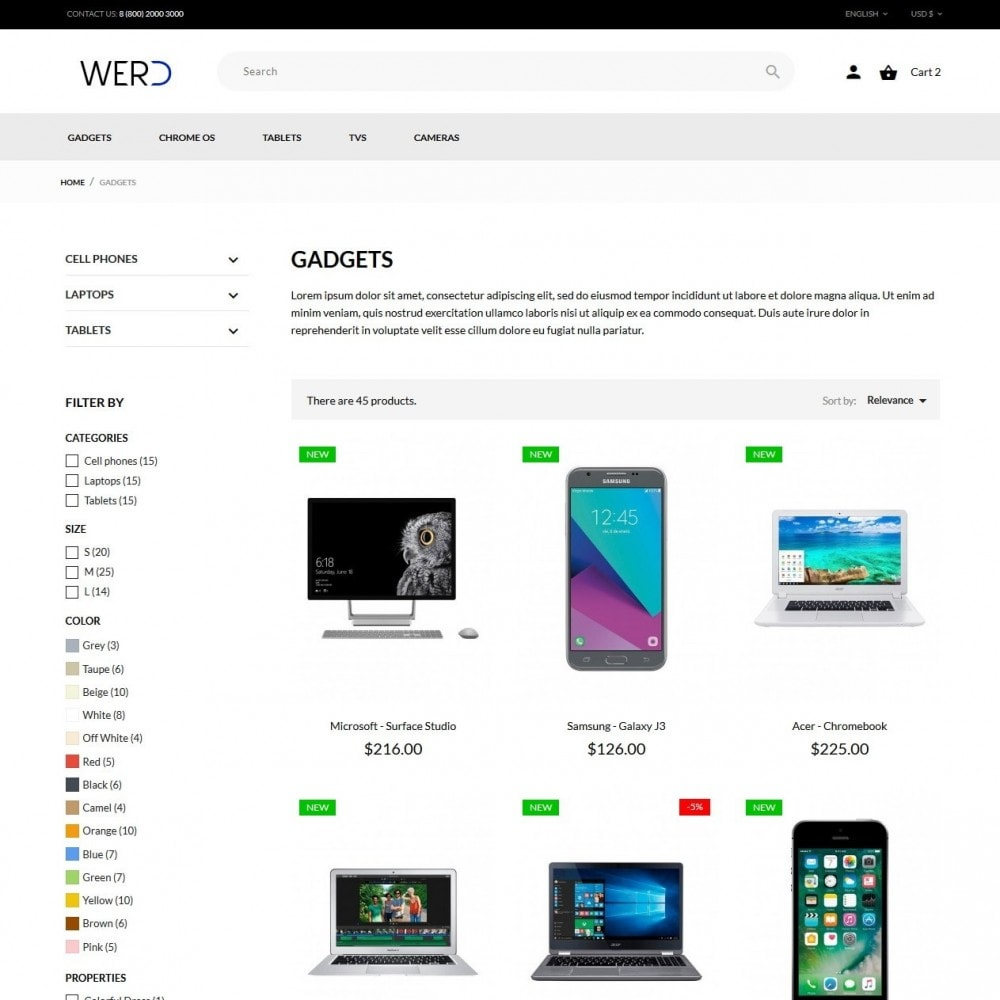 theme - Eletrônicos & High Tech - Werd - High-tech Shop - 6