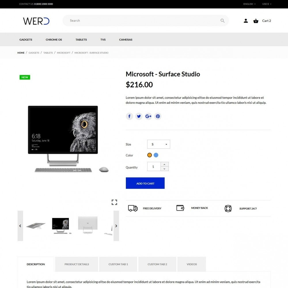 theme - Eletrônicos & High Tech - Werd - High-tech Shop - 7