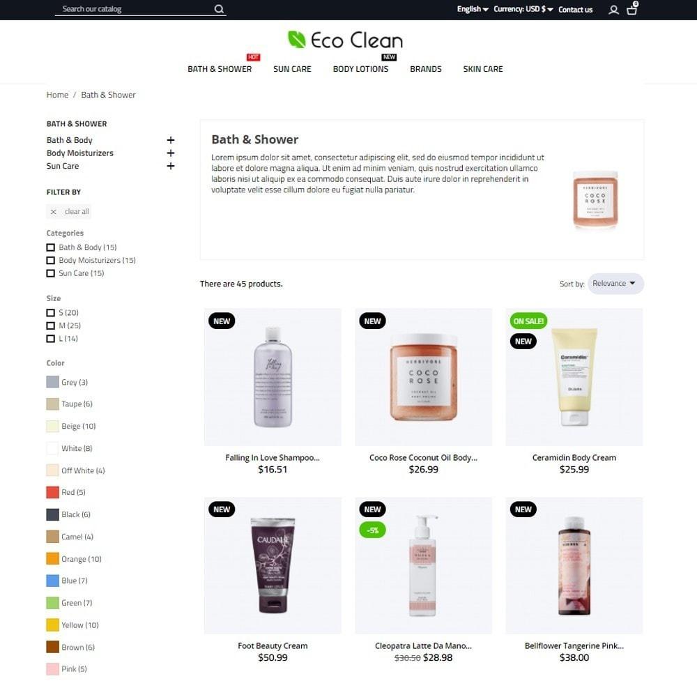 theme - Zdrowie & Uroda - Eco Clean Cosmetics - 6