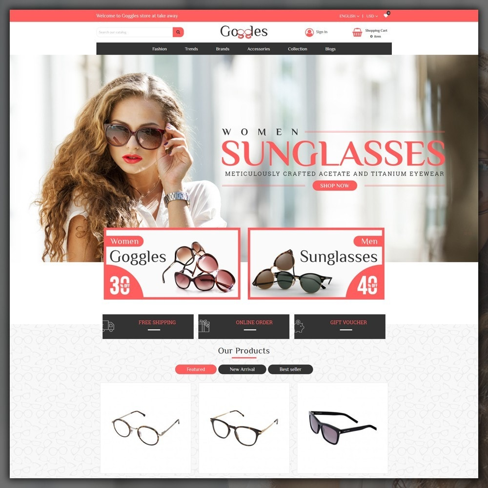 theme - Mode & Chaussures - Goggles Shop - 2