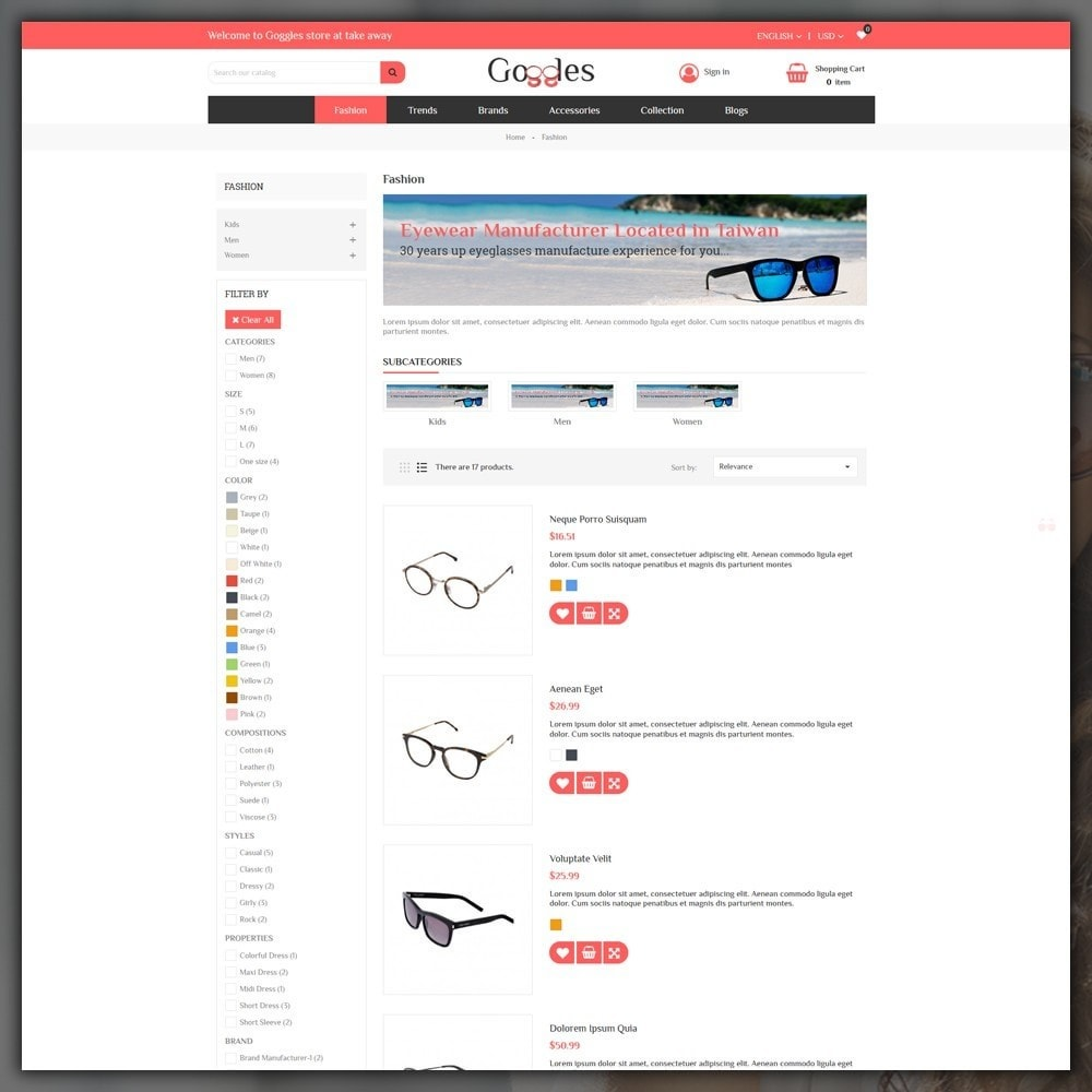 theme - Mode & Chaussures - Goggles Shop - 4