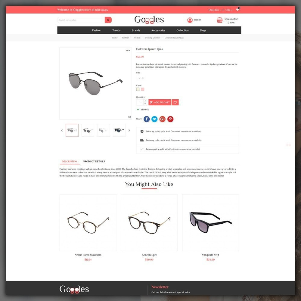 theme - Mode & Chaussures - Goggles Shop - 6