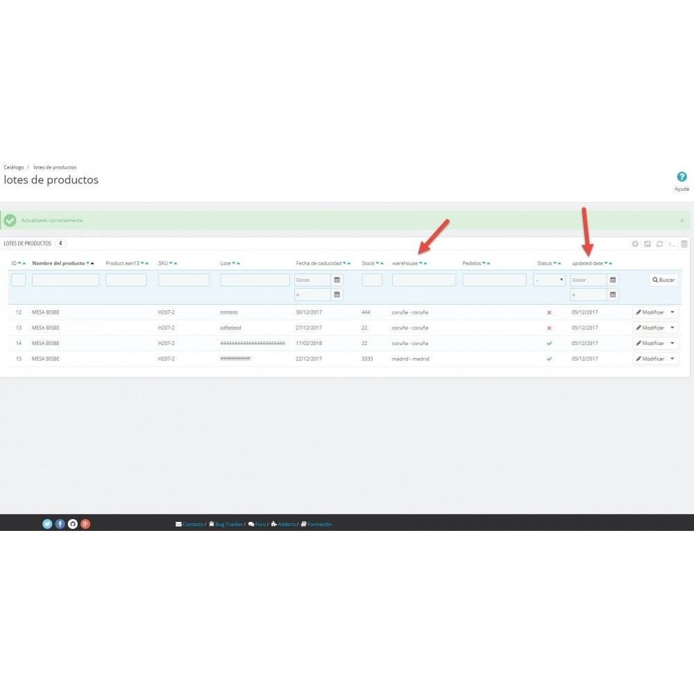 module - Gestión de Stock y de Proveedores - Trazabilidad y fecha de caducidad - 4