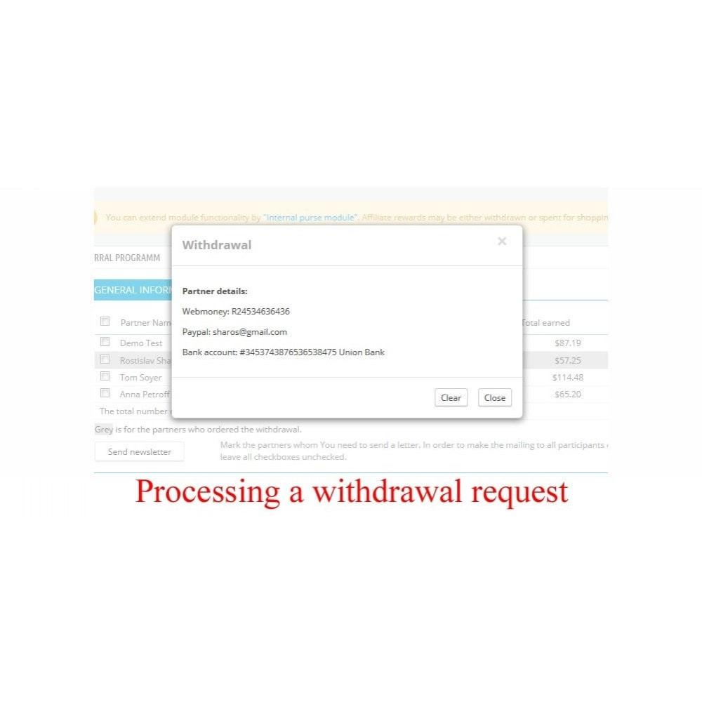 module - Betaalde vermelding & Lidmaatschap - Extended Affiliate Program RefPRO - 11