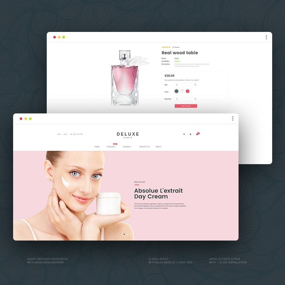 theme - Здоровье и красота - Deluxe Cosmetics - 1