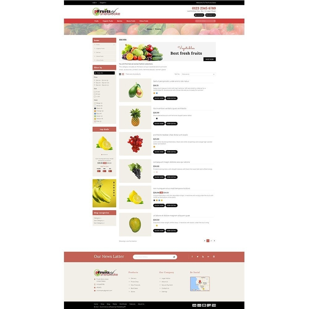 theme - Lebensmittel & Restaurants - Fruits store - 4