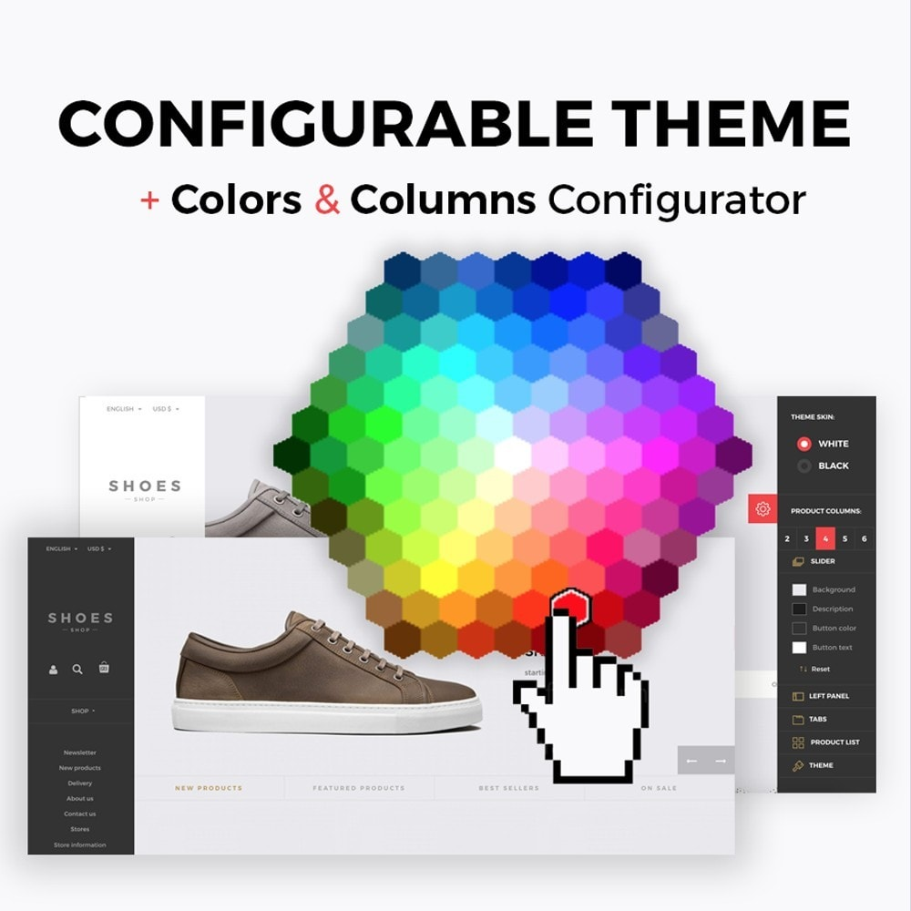 theme - Mode & Chaussures - Configurable Shoes Theme - 1