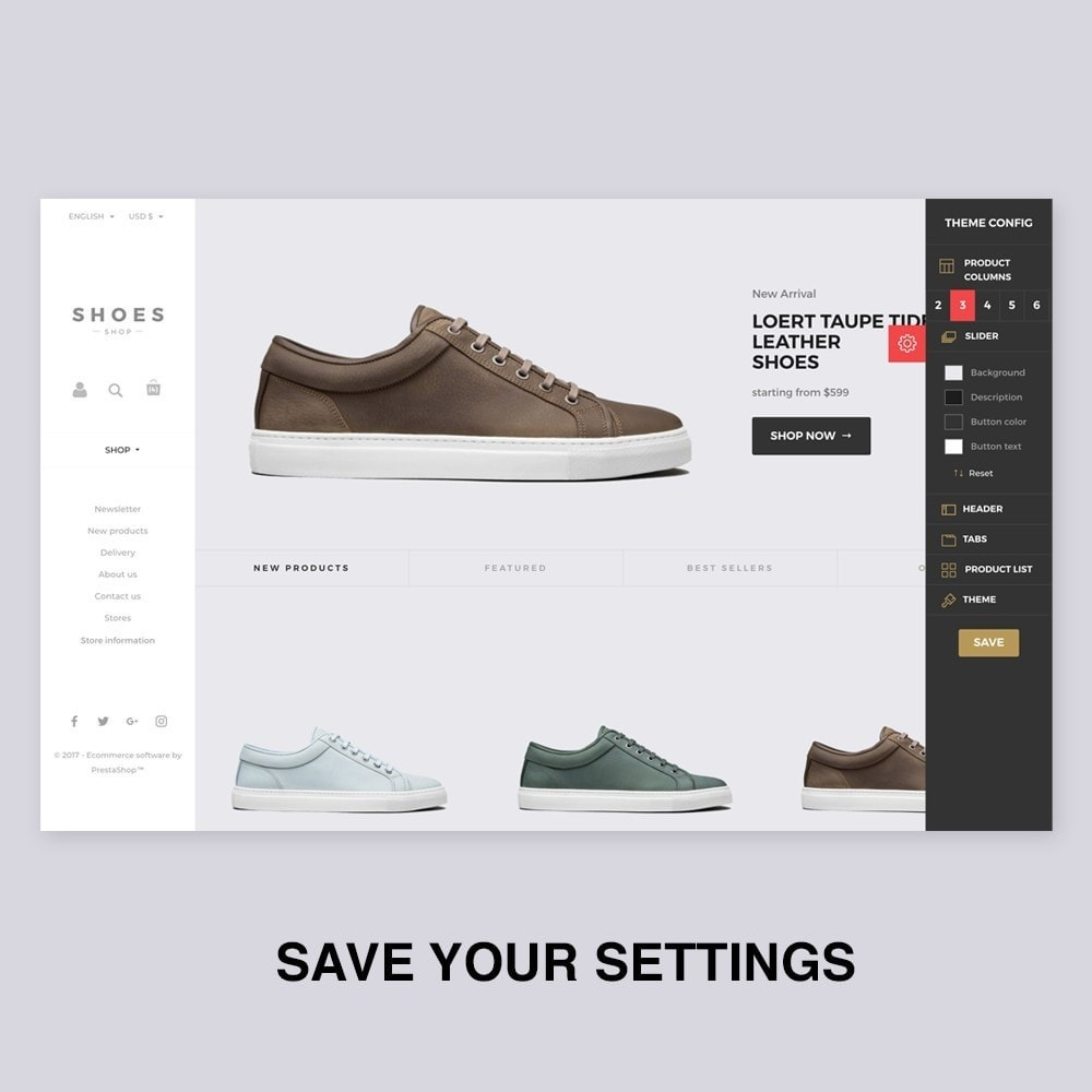 theme - Mode & Schoenen - Configurable Shoes Theme - 2