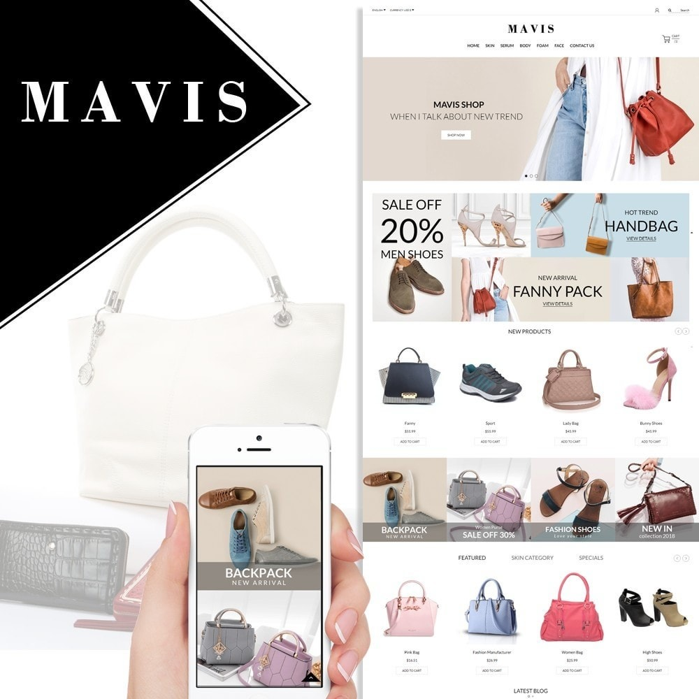 theme - Moda & Obuwie - Bag Shoes Fashion Mavis Store - 1