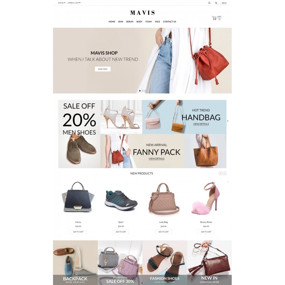 theme - Mode & Schuhe - Bag Shoes Fashion Mavis Store - 2