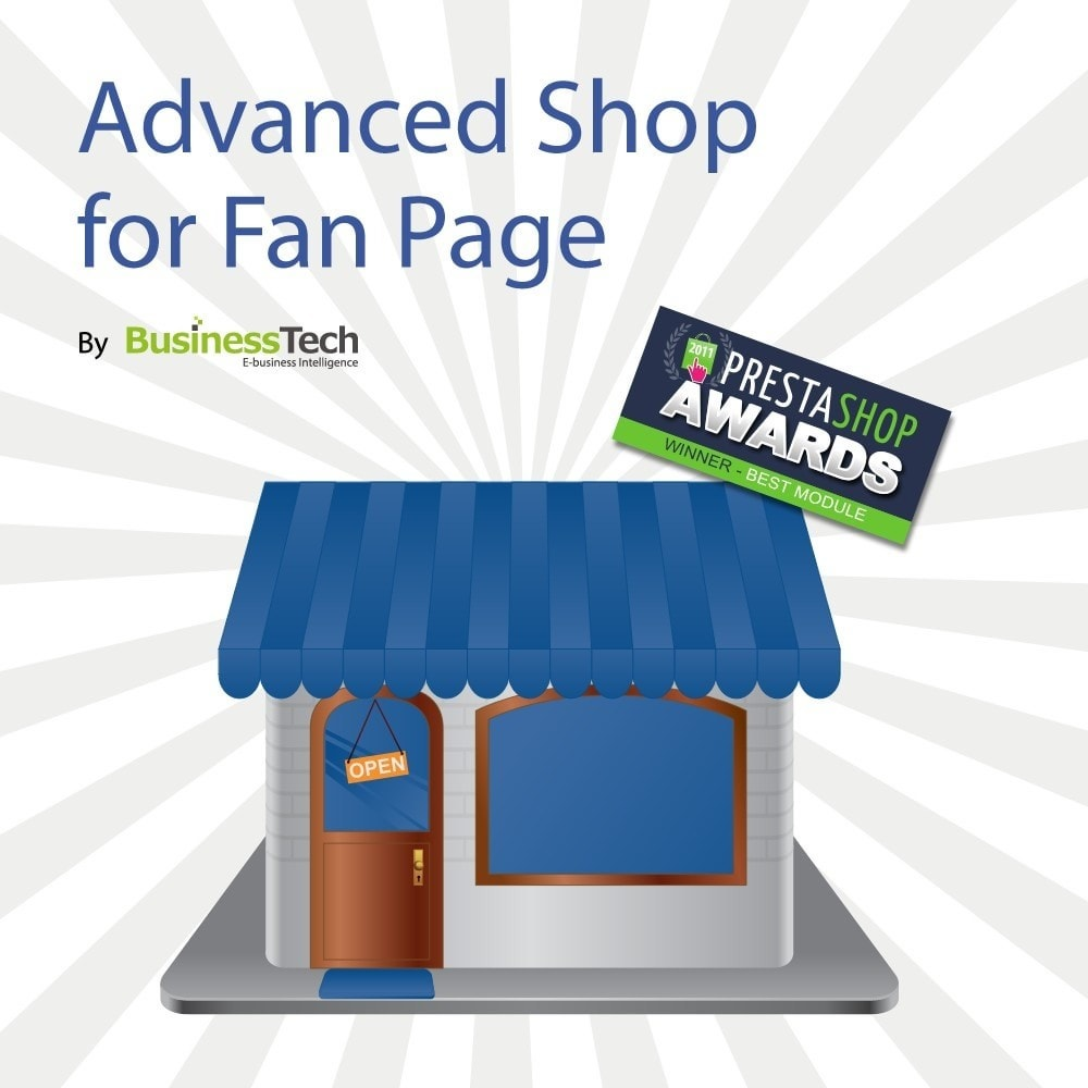module - Productos en Facebook & redes sociales - Advanced Shop for Fan Page - 1