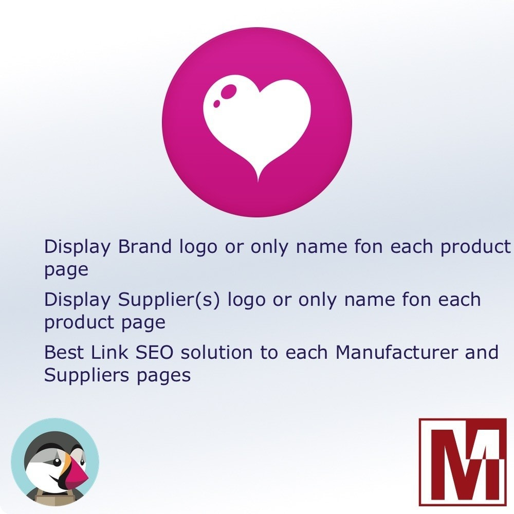 module - Badges & Logos - Manufacturer and / or Suppliers logo on product page - 1