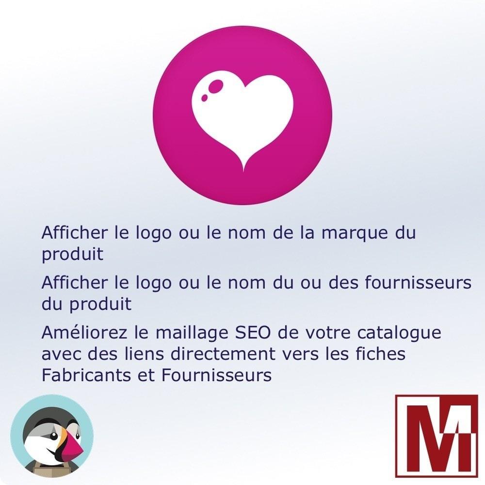 module - Etiquettes & Logos - Afficher le logo Fabricant et / ou Fournisseurs - 1