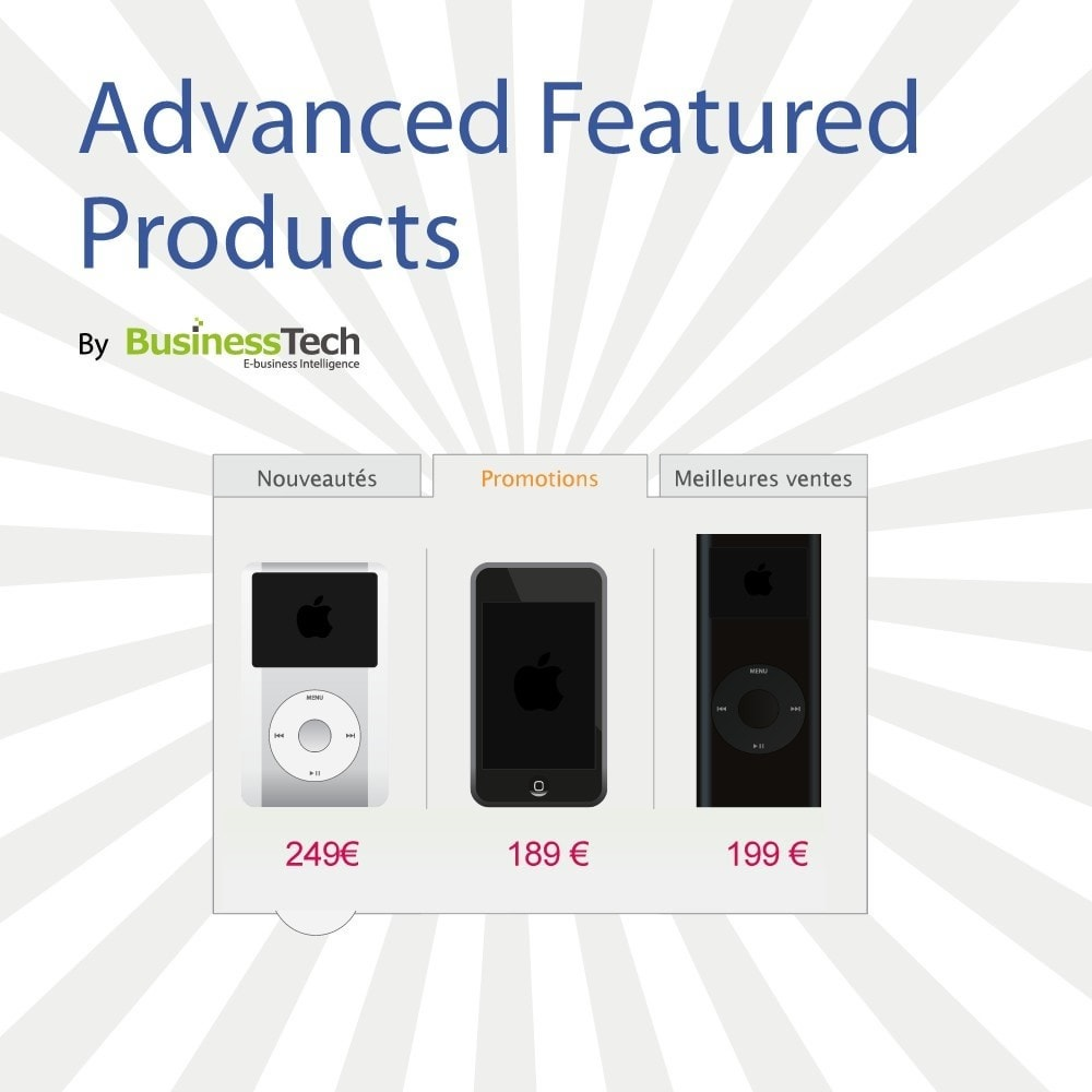 module - управления товарами на стартовой странице - Advanced Featured Products - 1