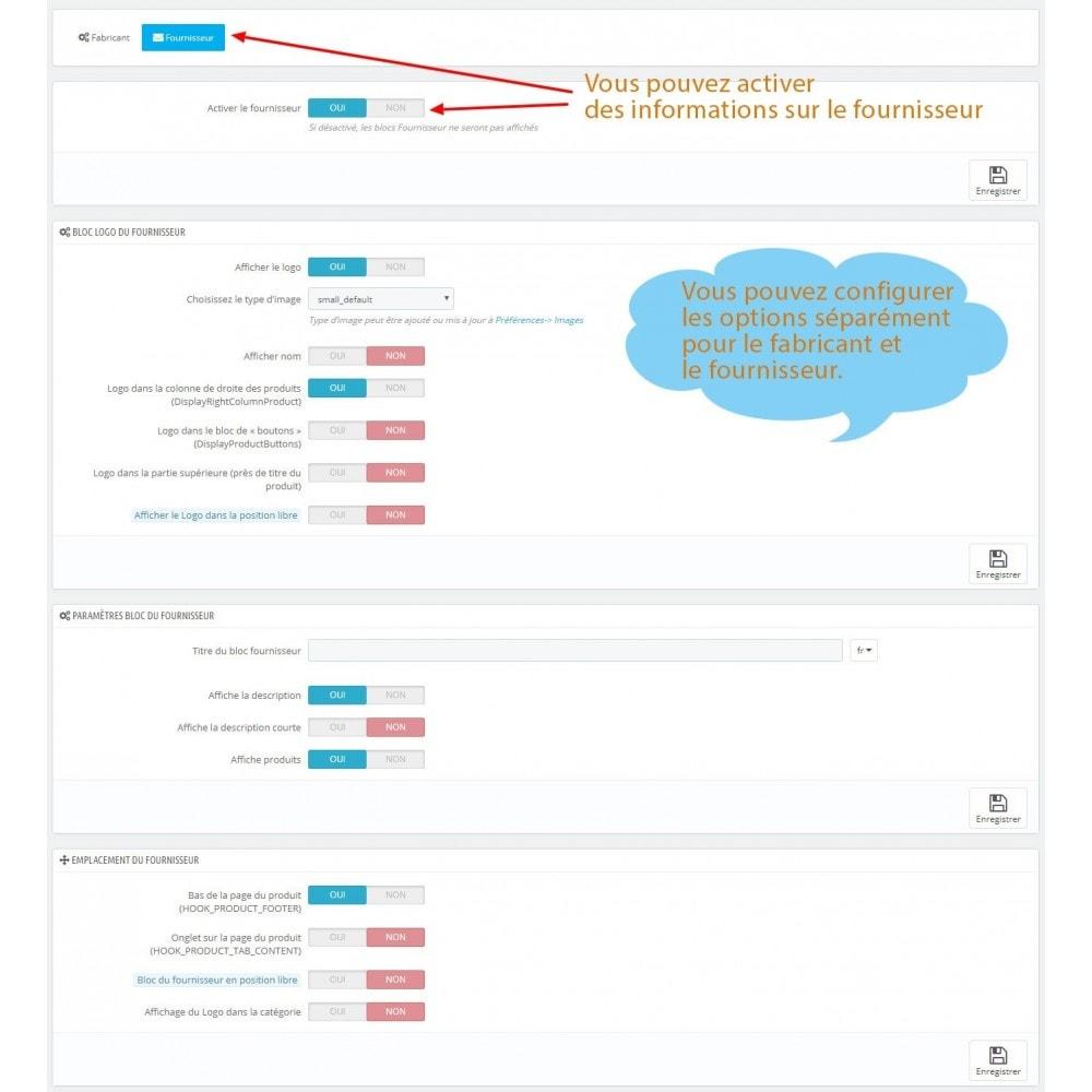module - Marques & Fabricants - Bloc fabricant et Fournisseur sur la page du produit - 8