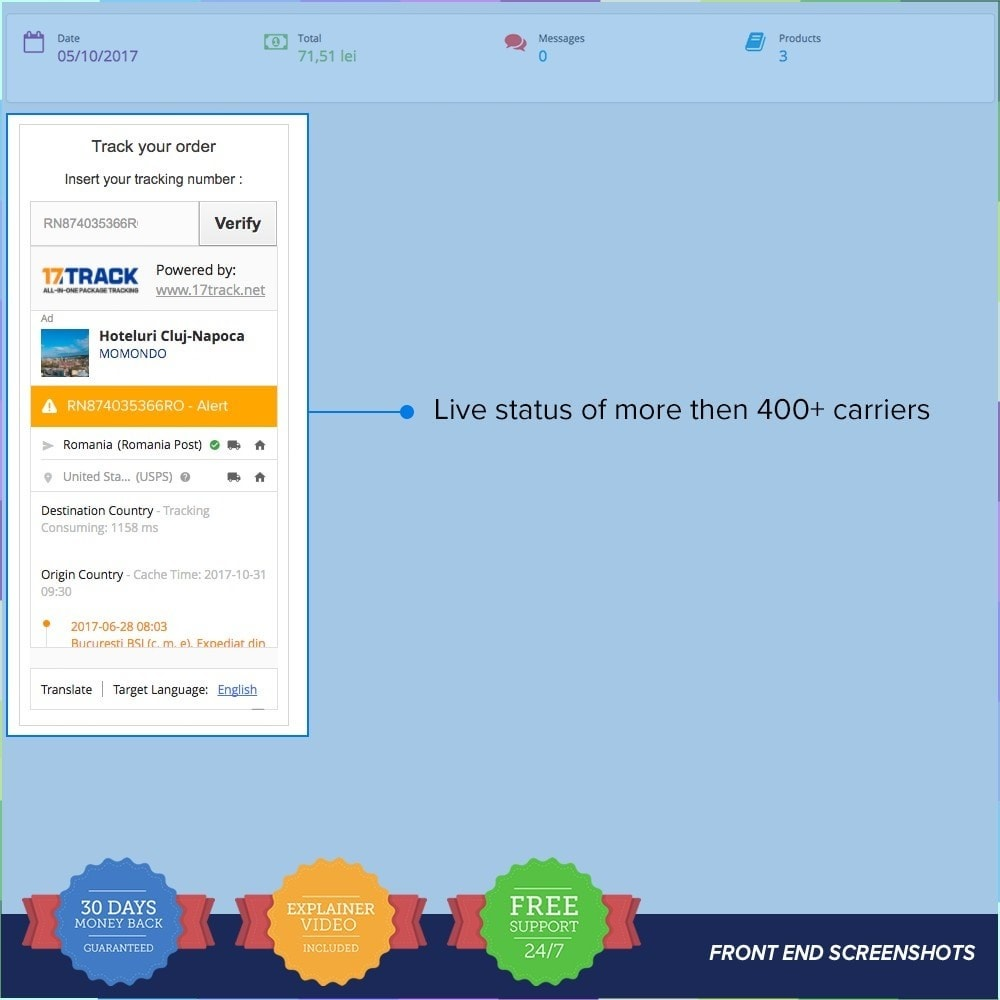 module - Delivery Tracking - LIVE Shipping/Order Tracking Multiple Carriers - 5