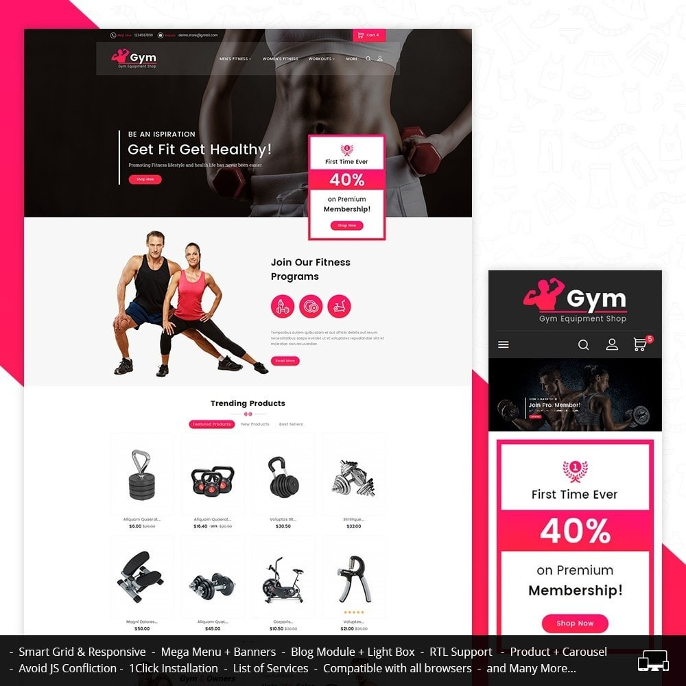 theme - Sport, Loisirs & Voyage - Gym Equipment Store - 1