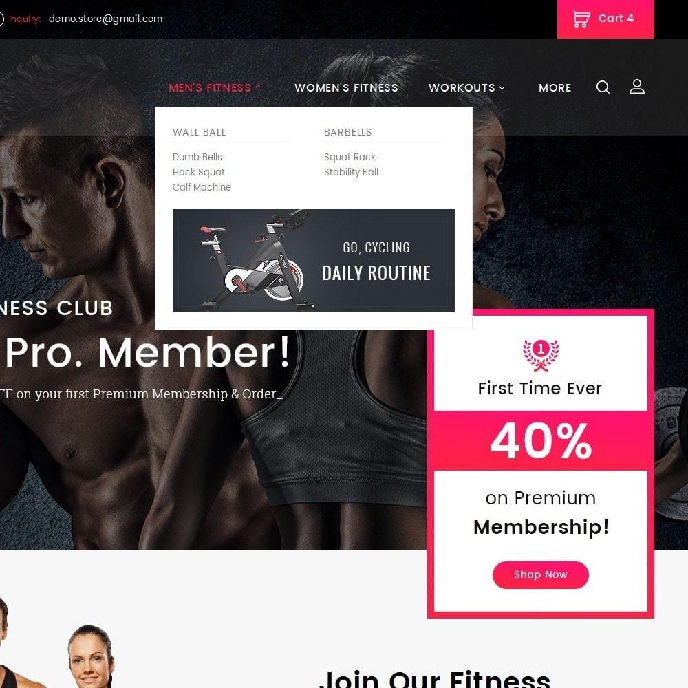 theme - Desporto, Actividades & Viagens - Gym Equipment Store - 9