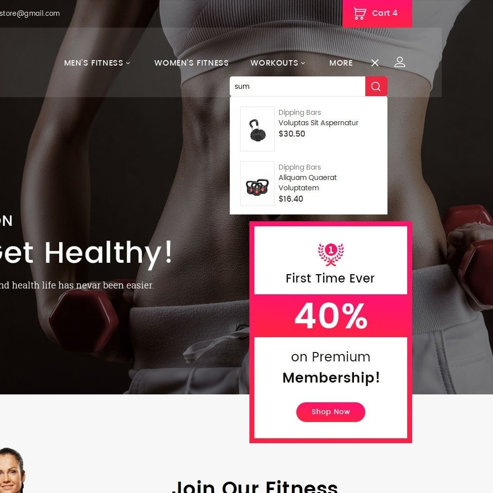theme - Sports, Activities & Travel - Gym Equipment Store - 10