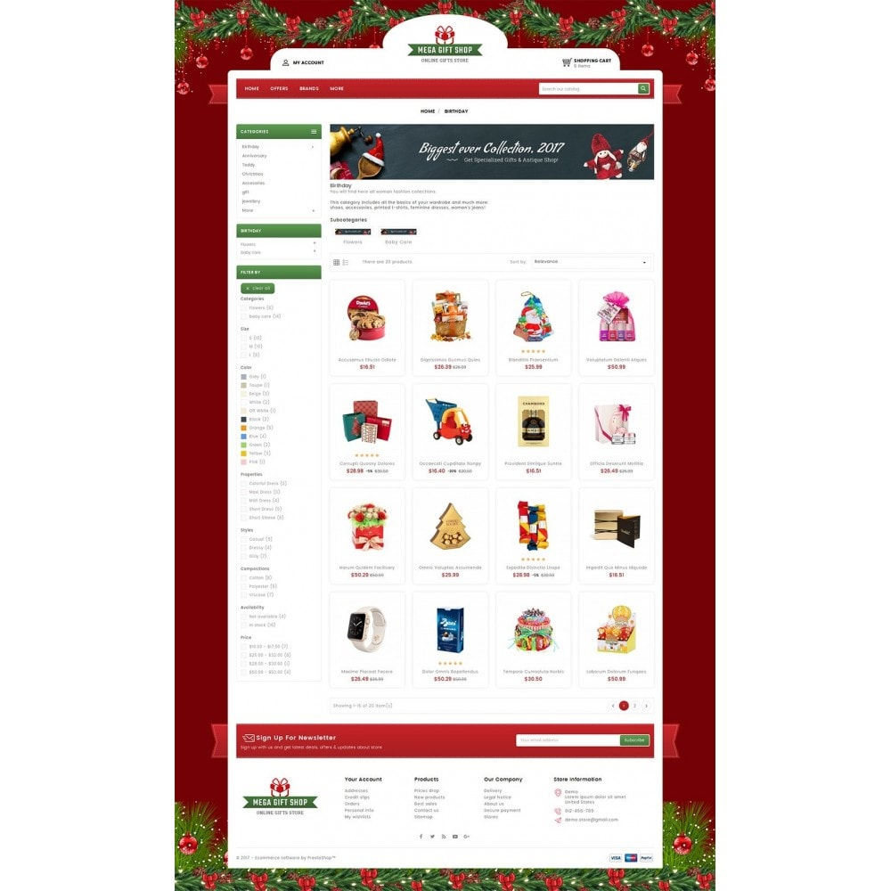 theme - Подарки, Цветы и праздничные товары - Mega Gift Shop - 3