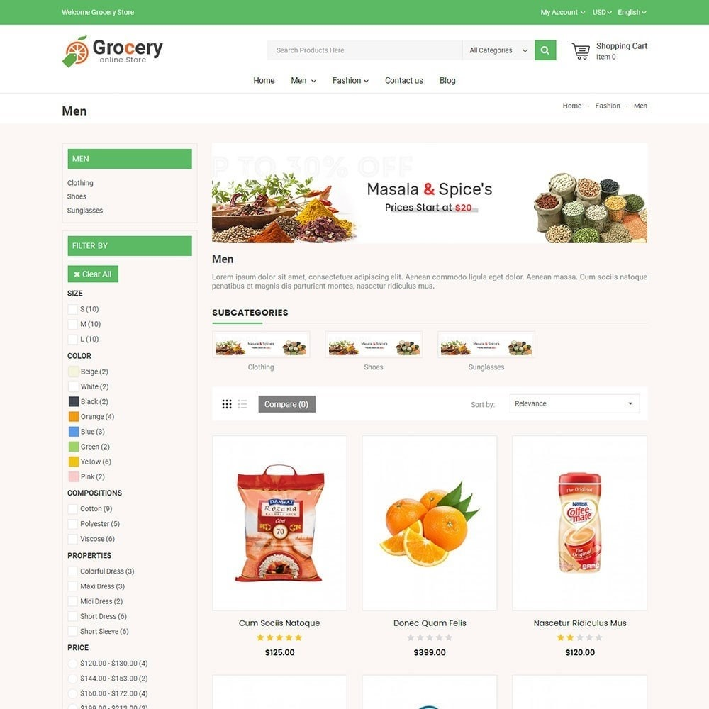 theme - Food & Restaurant - Online Grocery Store - 4