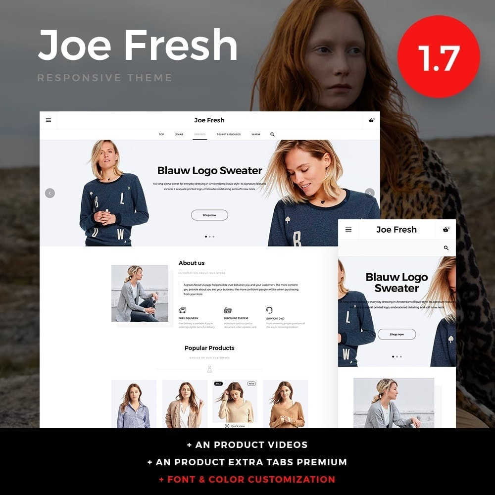 theme - Moda & Calçados - Joe Fresh Fashion Store - 1