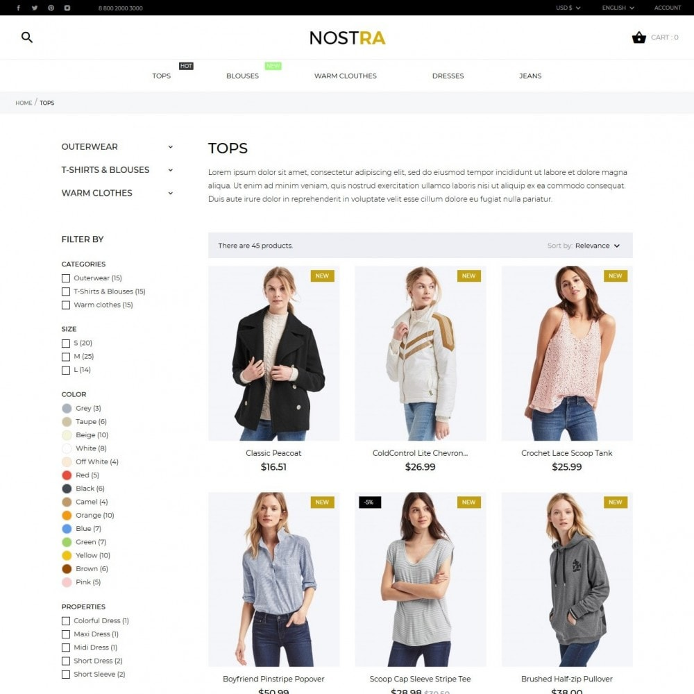 theme - Fashion & Shoes - Nostra Fashion Store - 6