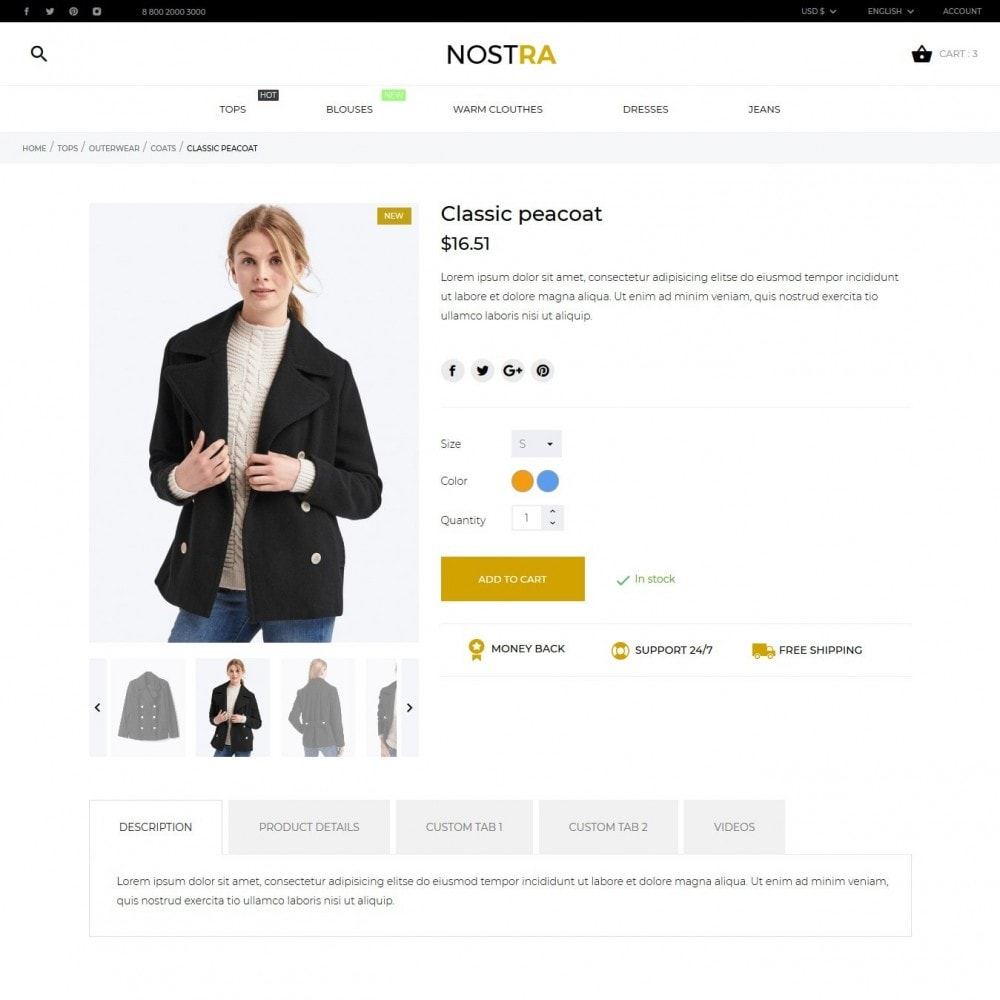theme - Fashion & Shoes - Nostra Fashion Store - 7