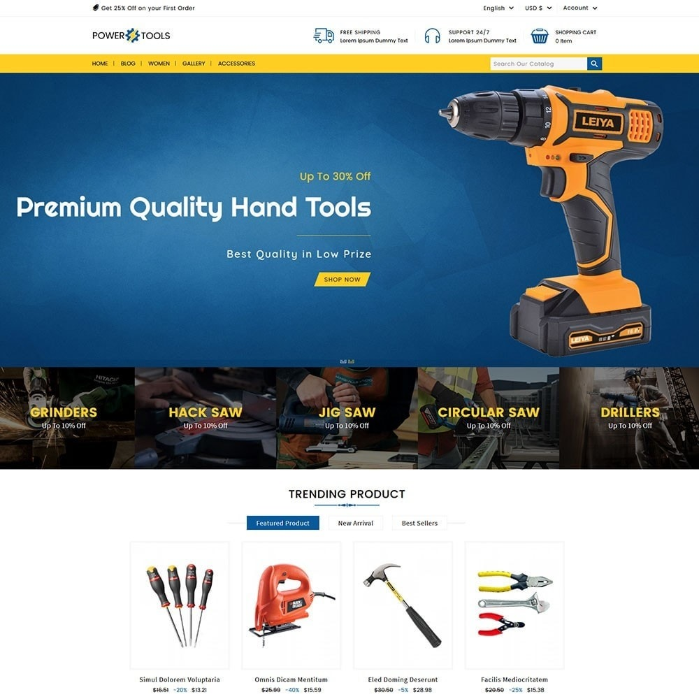 theme - Automotive & Cars - Power Tools - 5