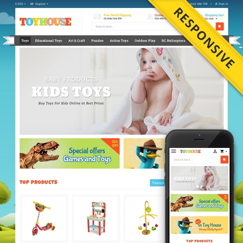 theme - Niños y Juguetes - Toys House Store - 1