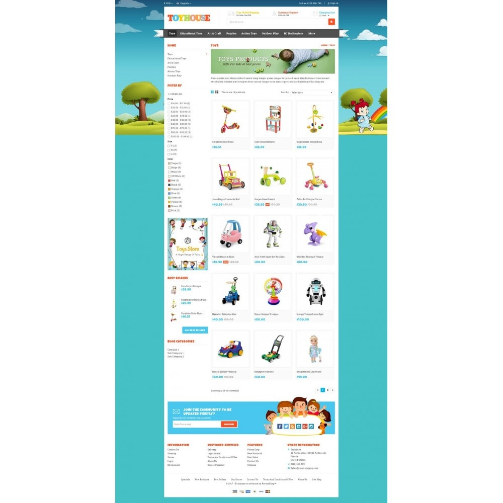 theme - Niños y Juguetes - Toys House Store - 3