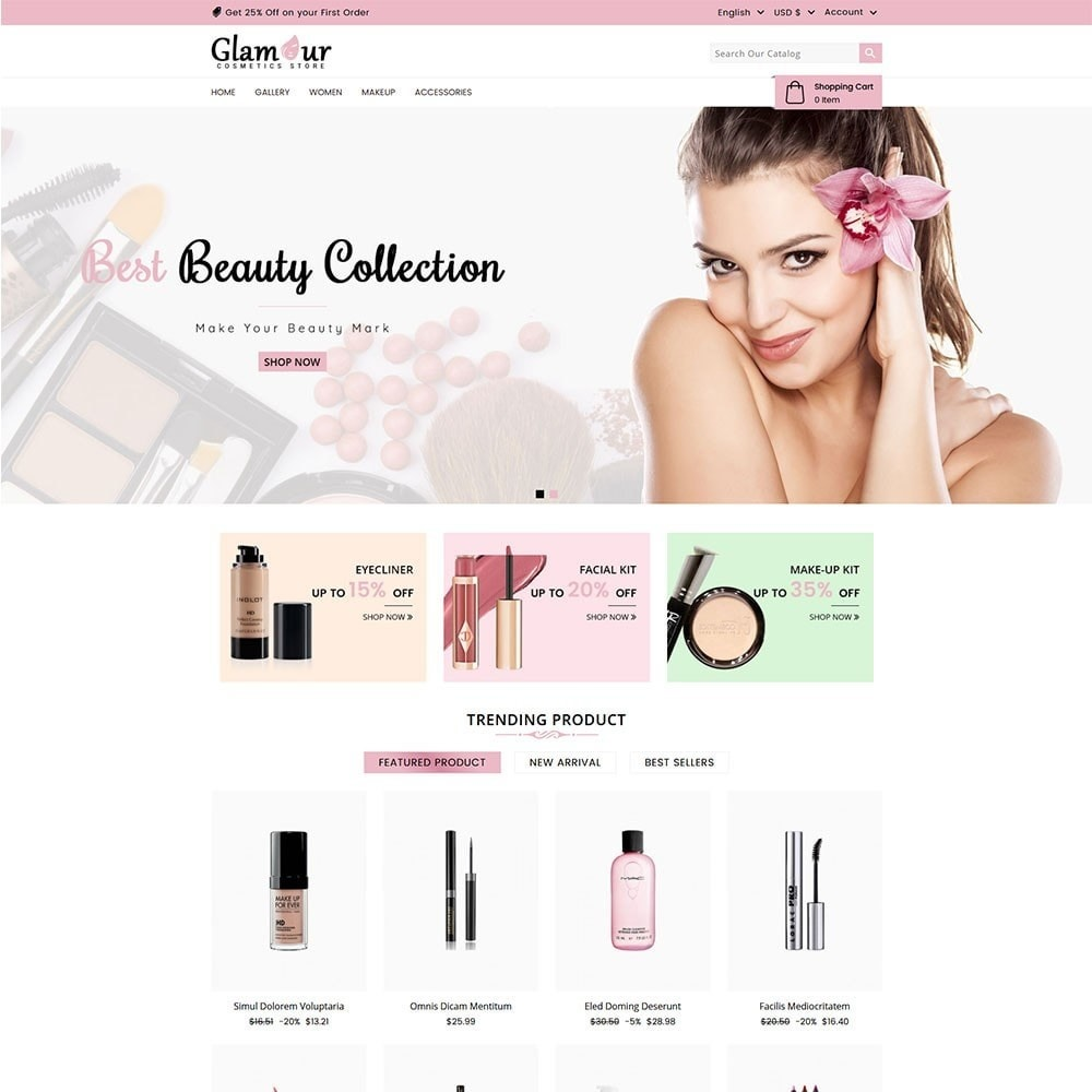 theme - Santé & Beauté - Glamour Cosmetics - 2