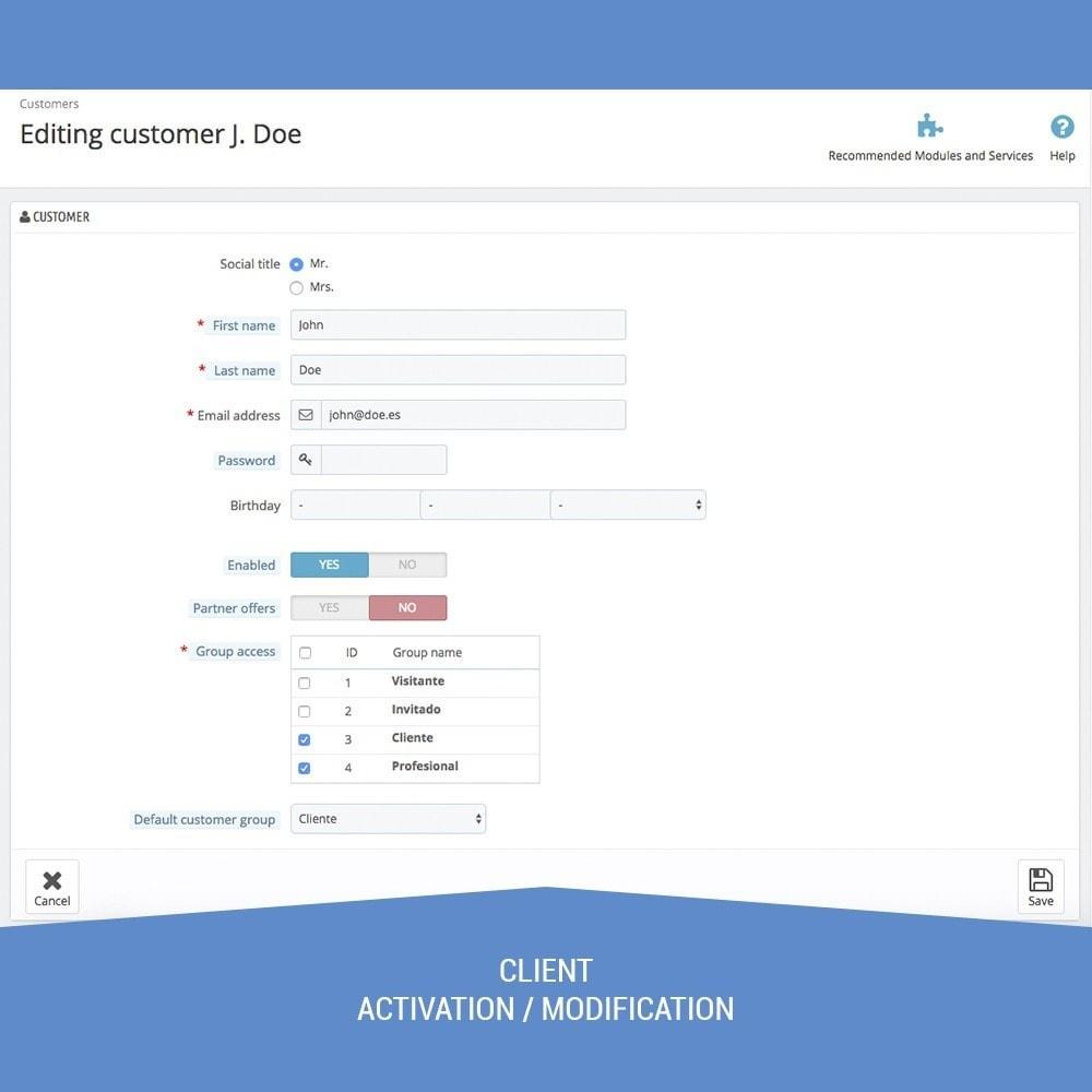 module - Service Client - Validate Customers shop B2B - 2