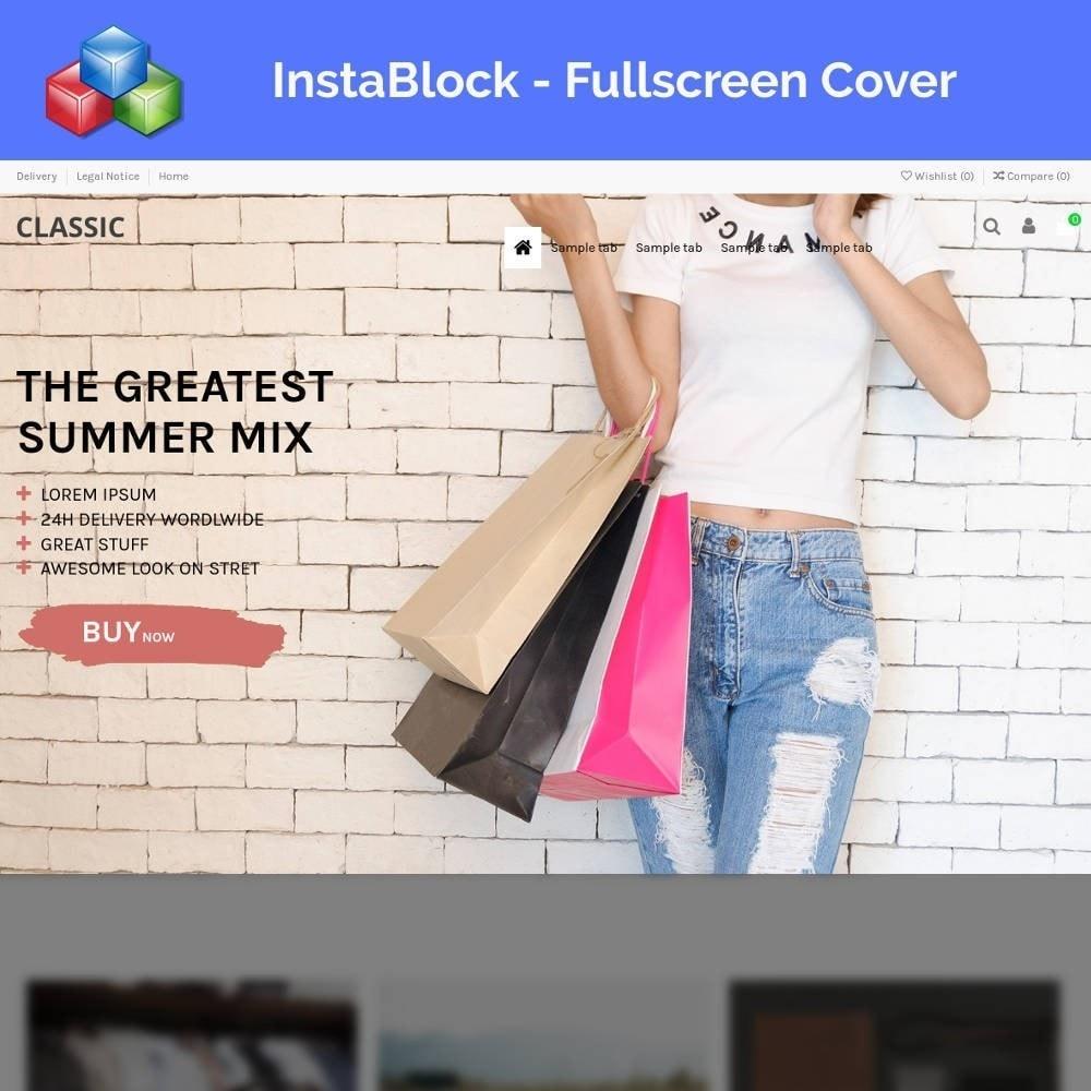 module - Personalización de la página - InstaBlock - Easy custom blocks - 1