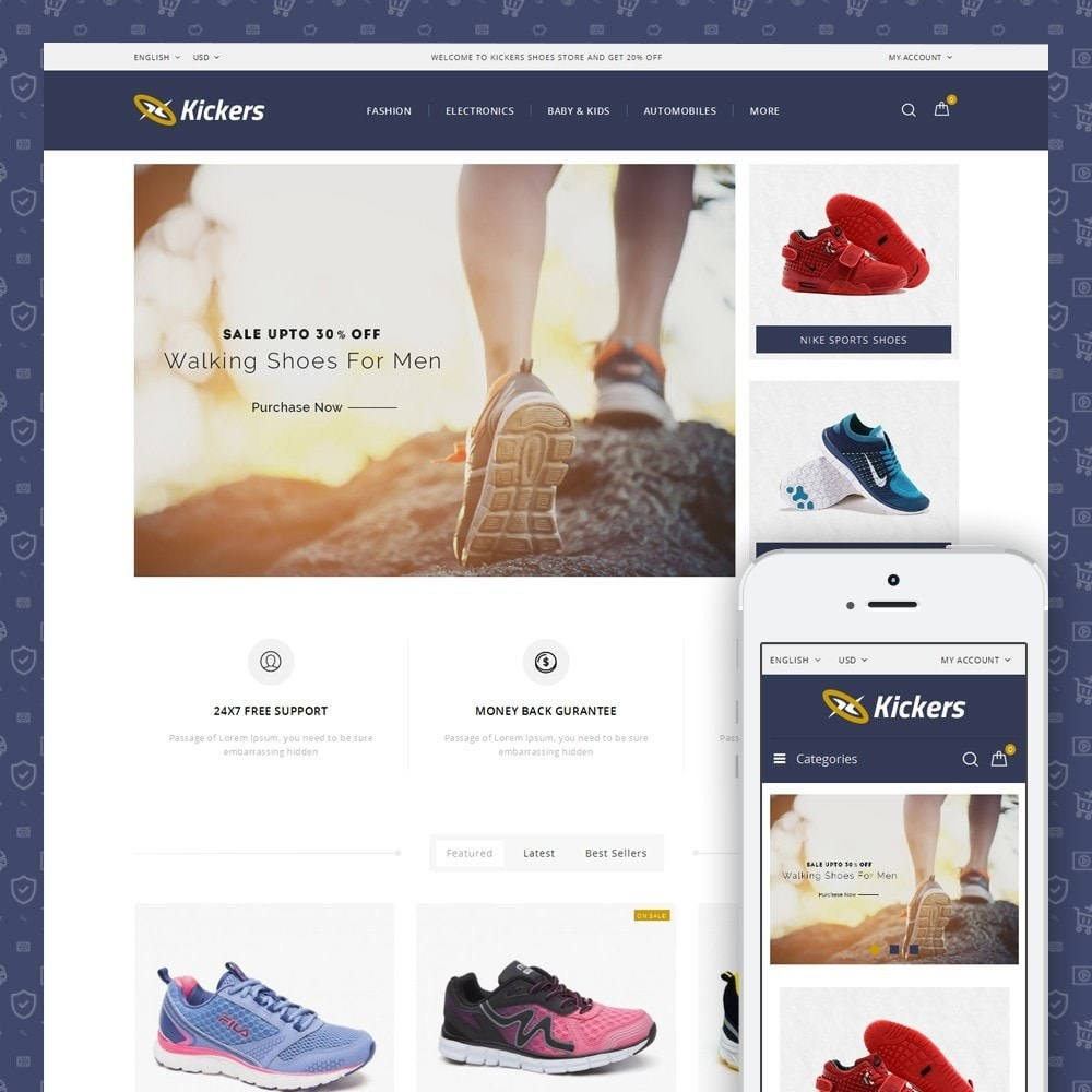 theme - Desporto, Actividades & Viagens - Kickers - Sports Shoes Store - 1