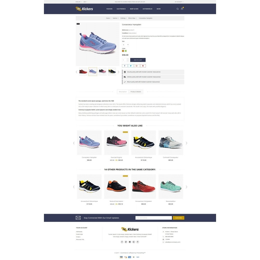 theme - Desporto, Actividades & Viagens - Kickers - Sports Shoes Store - 5