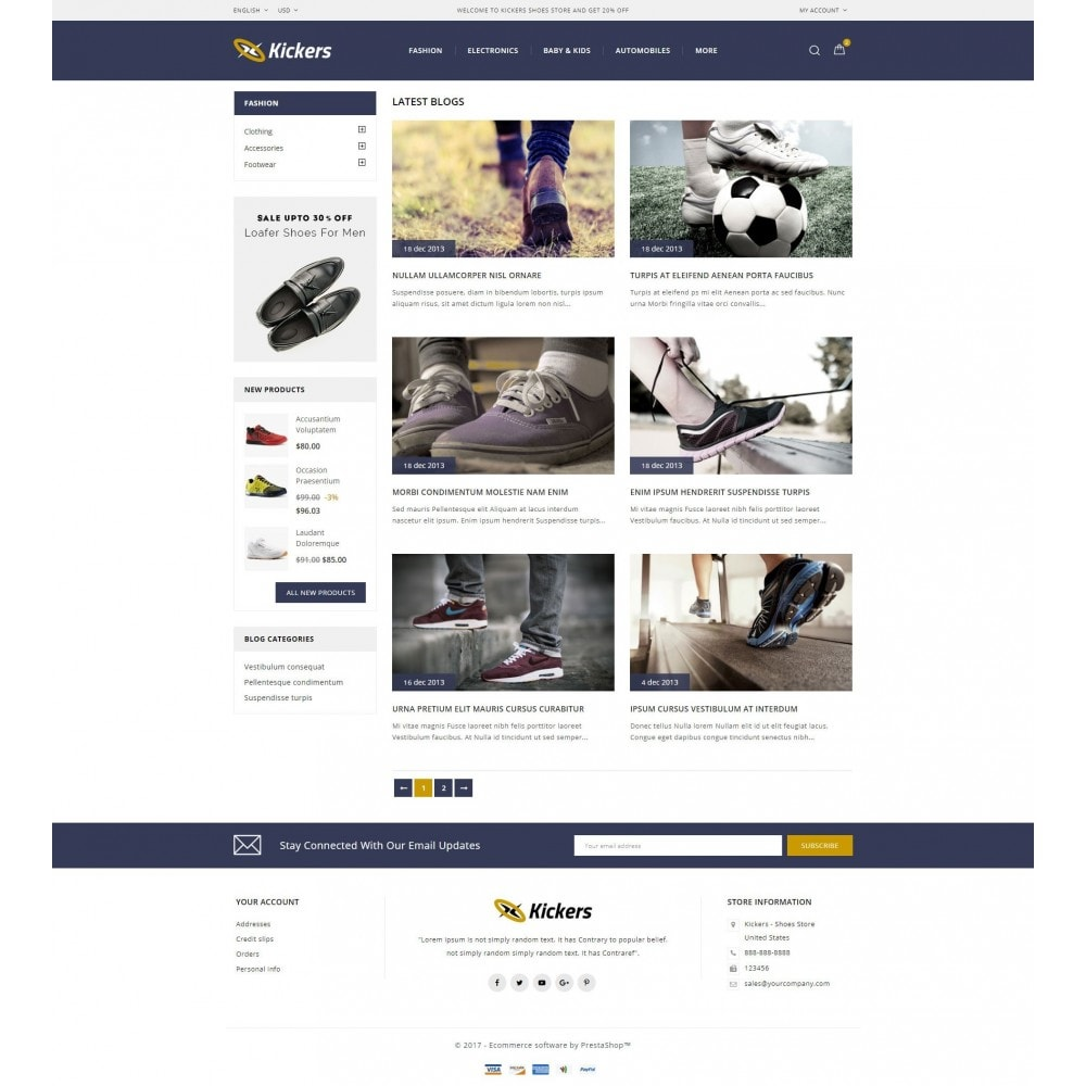 theme - Desporto, Actividades & Viagens - Kickers - Sports Shoes Store - 9