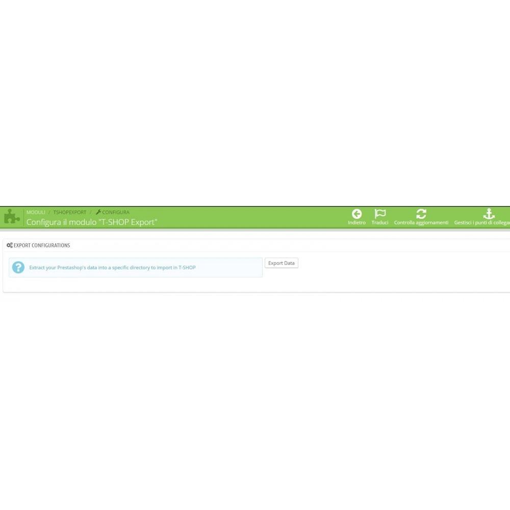 module - Data Migration & Backup - Esporta tutto il catalogo da PrestaShop a T-Shop - 5