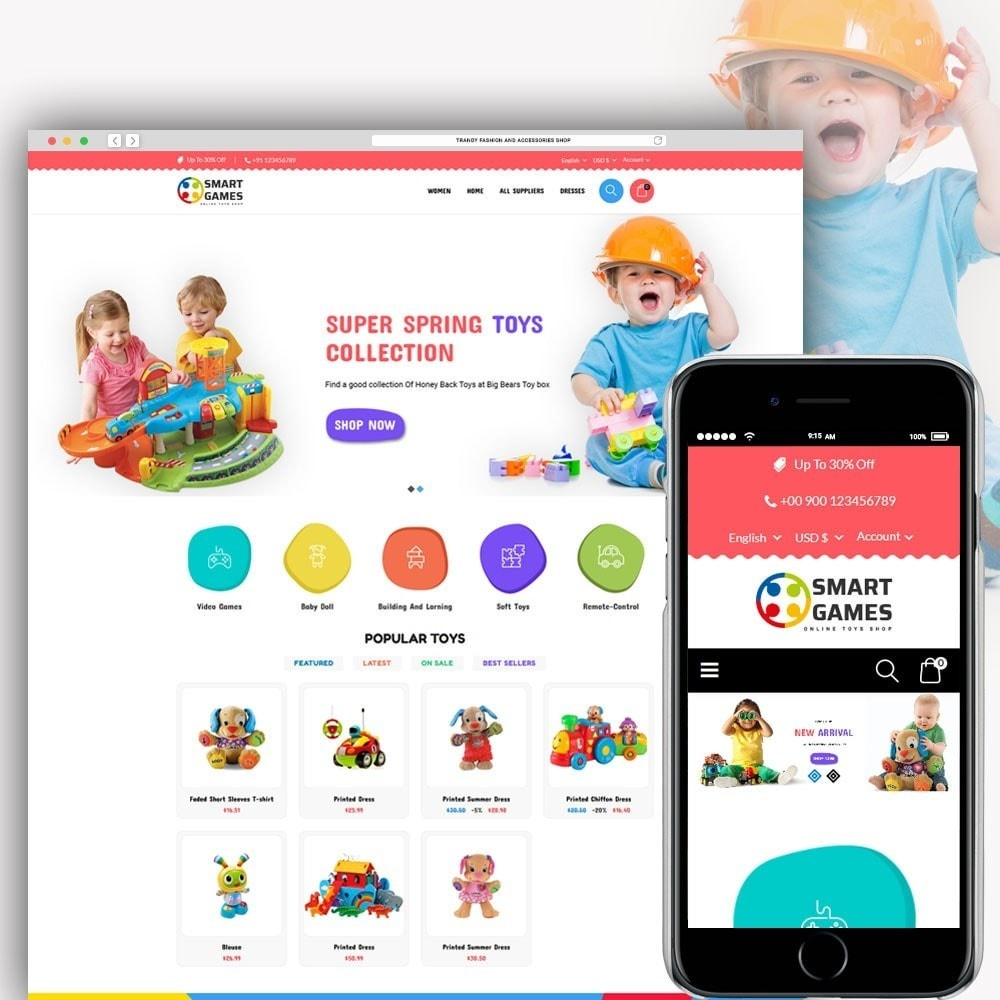 theme - Kinderen & Speelgoed - Smart Games Toy Store - 1